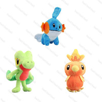 Wholesale torchic plush - Hot Cute cm Mudkip Torchic Treecko Plush Doll Stuffed Toy Pikachu Animals For Baby Best Gifts