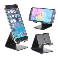 Wholesale retail box aluminium - Universal Aluminium Alloy Cell Phone Mount Tablet Table Desktop Desk Stand Holder for iPhone Samsung with retail box