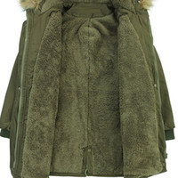 ingrosso donne verdi militari-Russo Inverno Spessore Caldo Parka Donna Giacca e Cappotti 4XL Stile Militare Army Green Giacca Donna Casaco Feminino C1193