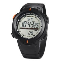 quartz alarm clock venda por atacado-Men Sport Relógios Homens LED Digital Data Quartz Watch Alarm Relog Relógio Impermeável