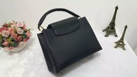 Wholesale large black evening bag - 2018 new brand Black Litchi Pattern Tote Bag fashion women handbag top quality shoulder bag clutch evening package luxury tote