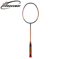 badminton-trainingsschläger großhandel-CROSSWAY 1PC hohe Pfund professionelle Amateur Badminton Schläger Zwischenoffensive Raquette de Badminton Outdoor-Training bss