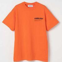ingrosso vestiti di estate delle donne di qualità-4COLORS 2019 Ambush 1a: 1 qualità stampato donna uomo T-shirt tees Hiphop marchio di abbigliamento uomo cotone manica corta maglietta per l'estate
