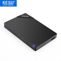 pc için harici disk sürücüsü toptan satış-Orijinal KESU 2.5 '' Harici Sabit Disk USB3.0 HDD PC Mac Masaüstü Laptop Sunucusu için Taşınabilir Harici HD Sabit Disk (Siyah / Beyaz)
