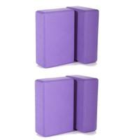 блоки пены для тренировки оптовых-EVA Yoga Props Blocks Bricks Foam Gym Exercise Fitness Trainer Sport Tool Us