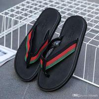ingrosso uomini maschi c-Nuovo arrivo pantofole da uomo di estate progettista di marca infradito sandali da spiaggia antiscivolo pantofole maschile zapatos hombre scarpe casual