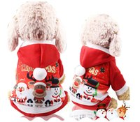 Wholesale anime clothing accessories online - Christmas Pet Dog Sweater Clothes Winter Xmas Santa Reindeer Hoodie Costume Hooded Coat Clothing Suit Cute Puppy Outfit Dogs Apparel