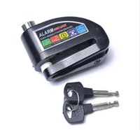 aluminium bremsscheibe großhandel-Schwarz Motorrad Roller Disc Brake Lock Motor Fahrrad Aluminiumlegierung diebstahl Rad Scheibenbremse Sperre Sicherheit Alarm Schutz