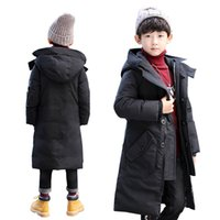 roupas de inverno para meninos adolescentes venda por atacado-Crianças casacos de inverno meninos jaqueta para meninos para baixo casacos adolescentes casacos longos Outerwear jaquetas de roupas infantis para casaco