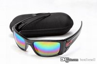 Wholesale racing sun - New Fuel Cell Sunglasses Okly Fashion Brand Designer UV400 OK Cycling Outdoor Racing Sports Bicycle Sun Glasses with cases