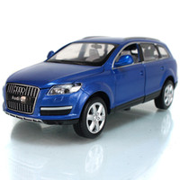 Wholesale toy cars brands - Brand New UNI 1:24 Scale Car Model Toys AUDI Q7 SUV Diecast Metal Pull Back Car Toy For Gift Collection Kids