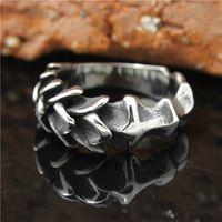 precio de anillo de niños al por mayor-1pc Mens Boys 316L acero inoxidable USEurope Style Scale Layer anillo de venta caliente precio al por mayor