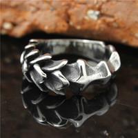 jungen ring preis großhandel-1pc Mens Jungen 316L Edelstahl USEurope Art-Skala-Schicht Heißer Verkauf Ring Großhandelspreis