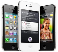 telefon 4s 16gb toptan satış-Orijinal Unlocked Apple iPhone 4 S Smarthone 8 GB / 16 GB / 32 GB ROM GSM WCDMA WIFI GPS 3.5 '' 8.0MP Kamera yenilenmiş Telefon
