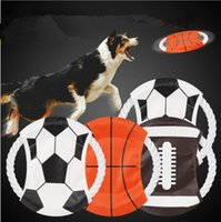 Wholesale fly pets - 2018 World Cup Dog Flying Disc Bite Resistant Canvas Puppy Training Toy Funny Round Pet Canvas flying disc KKA5052