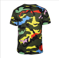 Wholesale Polyester Tshirts - Brand designer -3D T shirts Camouflage T-shirt Men Women Zipper Tshirts 3d T shirt Army Fashion Tops Tees Summer Shirts Hombres Camisetas