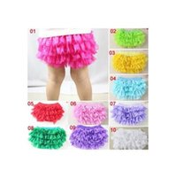 Wholesale pants bloomers tutu shorts online - INS baby girl infant toddler kids lace bloomers lace pants lace shorts chiffon pants tutu costumes cute underpants pp pants harem B11