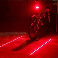 Wholesale used tail lights - Bicycle Rear Taillight Safety Warning 5 LED+ 2 Laser Flashing Lamp Tail Light Using AAA Waterproof for Outdoor MTB Cycling 13PJ5
