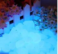 ingrosso ciottoli pietre-1Kg Spedizione gratuita Blu Luminoso Pebble In The Dark, blu glow Pebbles Stones, PS luminosi ciottoli per giardino e acquario