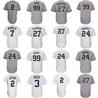 Wholesale Womens Army Shorts - Mens Womens Youth New York 99 Aaron Judge 27 Giancarlo Stanton 2 Derek Jeter 24 Gary Sanchez Mickey Mantle Babe Ruth Baseball Jerseys