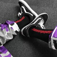Wholesale thick ankle socks - 2018 Men Women Calabasas Kanye West Fashion Cotton Socks Justin Bieber Hip Hop Harajuku Thick Letter Skateboard