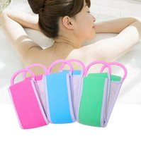 Wholesale two sided belt - 80*8.3cm Body Clean Tool Exfoliating Bath Towel Two-sided Back Rubbing Towel Fashion Pull Back Bath Body Clean Tool EEA405 100PCS
