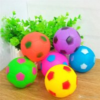 Wholesale toy s resale online - Colorful Puppy Sound Ball Bite Resistant Pet Teethers Molar Toys Teeth Care Round Football Dogs Chews Balls Teething Toy Portable jc ZZ