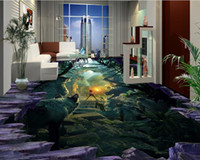 Wholesale Animal House Wallpaper - 3d bathroom wallpaper Animal Kingdom three-dimensional map paste waterproof PVC Wallpaper