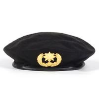 Boinas del Ejército de Lana de Alta Calidad para Hombres Mujeres Niños Star Emblema  Sailor Dance Performance Hat Adulto Niño Sombrero Trilby Gorras dc5fb159707