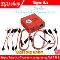 telefon kilidini açma kabloları toptan satış-Toptan Sigma Kutusu cep telefonu kilidini ve onarım aracı NokiaZTEMotorola MTK Huawei Için (9 kablolar) (Temel sürüm)