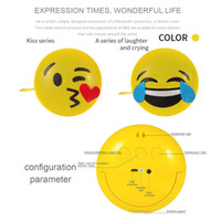 Wholesale mp3 game player online - Mini Portable Emoji Emoticon Bluetooth Speaker with Stereo Bracket Sport Handsfree Audio Support Bluetooth USB AUX MP3 Game