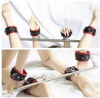 knöchel-stulpe sex-spielzeug großhandel-Sex Handschellen Fußfesseln BDSM Bondage, Spiele für Erwachsene, BDSM Sexsklavenset, erotisches Spielzeug, erotisches Zubehör sexy Set