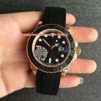 Wholesale 18kt gold watches - Luxury Best Quality JF Factory 40mm 116655 Rubber Bracelet Ceramic Bezel 18kt Rose Gold Swiss ETA 3135 Movement Automatic Mens Watches