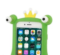 Wholesale Frog Covers - Lovely 3D Cartoon Cute Phone Case Eye Frog Soft Silicone Cover For Iphone X 8 8P 7 7P 6 6P 6 6SP