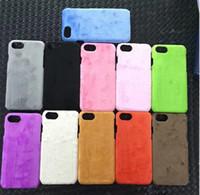capa de lã do iphone venda por atacado-Para iphone x 8 7 além de pano de lã de veludo de pano de couro capa case para uso diy colorido