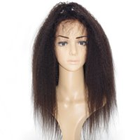 Wholesale glueless remy wigs - Best Italian Yaki 360 Lace Frontal Wig Pre Plucked Brazilian Remy Glueless Full Lace Front Human Hair Wigs for Black Women 180 Density