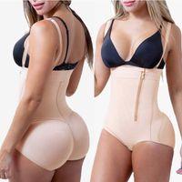Zipper Bustier Slimming Women Body Shapers High Waist Spandex Charming Underbust Control Shaping Waist Trainer Butt Lifter Shapewear