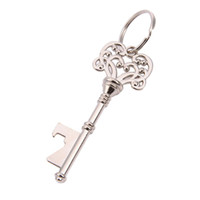 Wholesale key shaped wine opener for sale - Group buy Retro Bottle Opener Key Shape Bottle Openers Beer Wine Bottle Opener Keychain Ring Open Bar Drinking Accessori