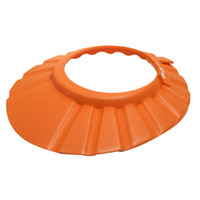 ребенок оранжевый колпачок оптовых-LHBL душа ребенка шампунем ванна защитная регулируемая крышка шапочка для душа новый (оранжевый)