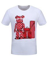 Wholesale Designer Tshirts For Men - Summer Fashion Designer Luxury Brand Cartoon Letters Printing Short-sleeved Men's Clothing Youth T-shirt T Shirt For Men Tshirts