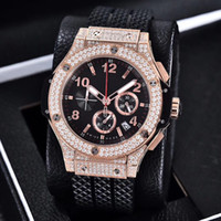 Wholesale evolution watch - Luxury Wristwatch Mens Brand New BigBang 44Mm Evolution Rubber Band Diamond Watch 10 Ct Automatic Mens Watch Men's Watches Top Quality
