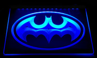 Wholesale Batman Decor - LS2450-b Heroe Batman Cueva Del Hombre muestra Light Sign Decor Free Shipping Dropshipping Wholesale 8 colors to choose