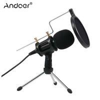 laptop de gravação venda por atacado-3.5mm Microfone Condensador Plug Mic Play Home Studio Podcast Microfones de Gravação Vocal para iPhone Portátil PC Tablet Microfone