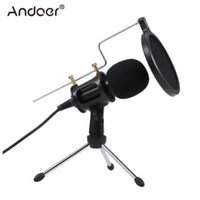 micrófono para grabar al por mayor-Micrófono de condensador de enchufe de 3,5 mm Mic Play Micrófono de estudio de podcast de Home Studio Studio para iPhone Micrófono de tableta PC portátil