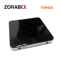 Wholesale Frequency Receiver - 5pcs TVIP 605 set top box 4K dual frequency WiFi 4k 2.4G 5G Ultra High Definition