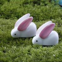 Big Garden Ornaments NZ   Moss Micro Landscape Ornament Cute Resin Big Ear  Rabbit Shaped Adornment