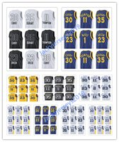 Wholesale Royal Jerseys - 2017 2018 New Men Swingman Jersey 30 Curry 35 Durant 11 Thompson 9 Iguodala 23 Green Royal Blue Jerseys All Star NCAA Basketball Shirts