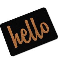 boden buchstaben matte großhandel-Willkommen Fußmatten für Eingang Gummi Anti-Rutsch-Fußmatte Küche Matten Wohnzimmer Badezimmer Teppich Hallo Buchstaben gedruckt Bereich Teppich