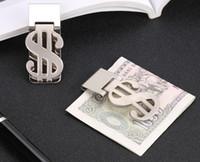 carteira livre do grampo do dinheiro venda por atacado-Clipe de dinheiro de Metal Em Aço Inoxidável Carteira de Dinheiro Criativo Clipe de Dinheiro Titular do Cartão de Crédito Fino Clip Rápido Frete Grátis