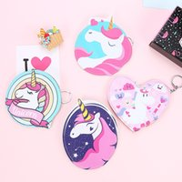 Wholesale horse coin purse - For Women Wallets Animal Horse Unicornio Pattern Coin Storage Bags With Metal Zipper Unicorn Purse Factory Direct Sale 4 8sma XB